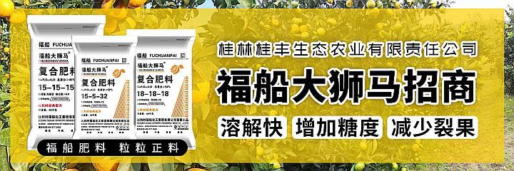 桂林桂丰生态农业福船大狮马诚招代理